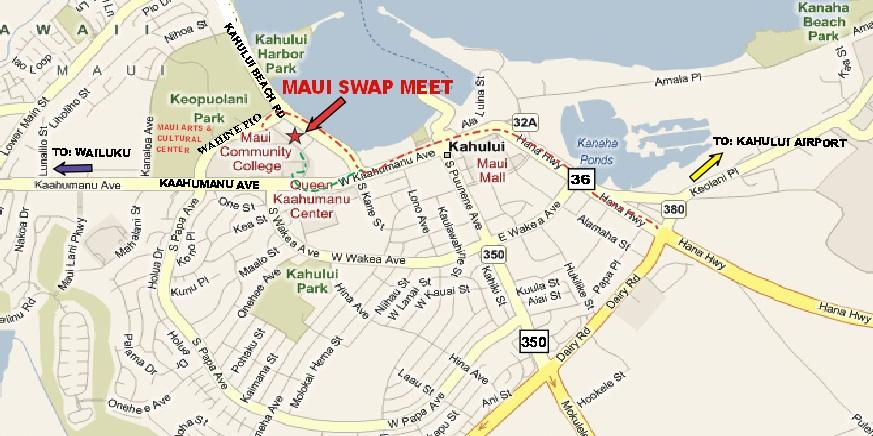 Cosa fare sull'isola di Maui: visitare il mercato Swap Meet mercato prodotti artigianali locali informazioni utili come arrivare