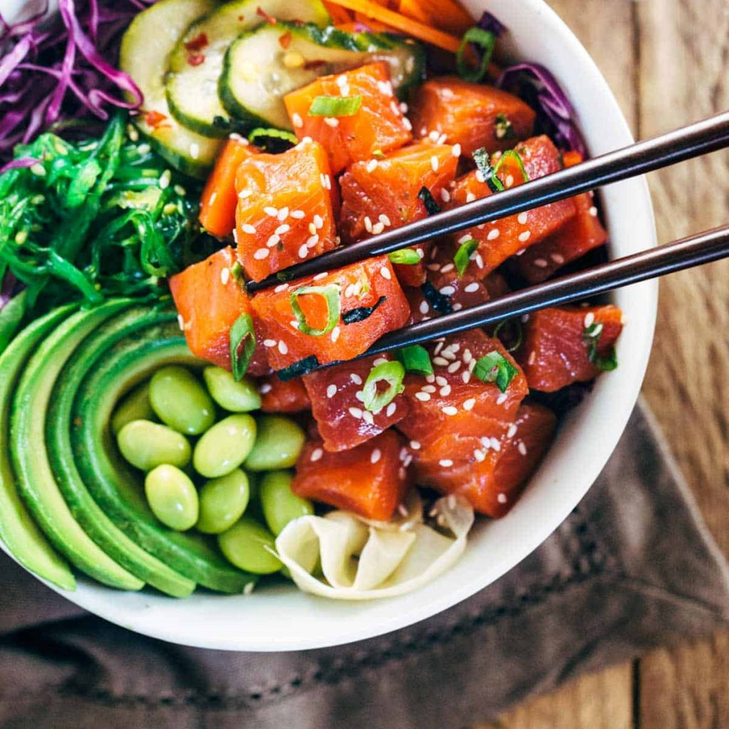 poke cibo food blogger Hawaii tradizionale salmone tonno ricette love hawaii